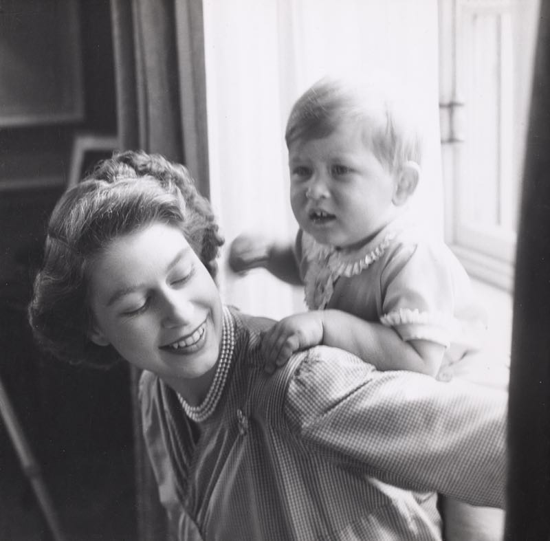 HRH Princess Elizabeth With HRH The Prince of Wales