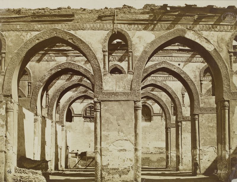 Interior Of The Mosque Of Ibn Tulun