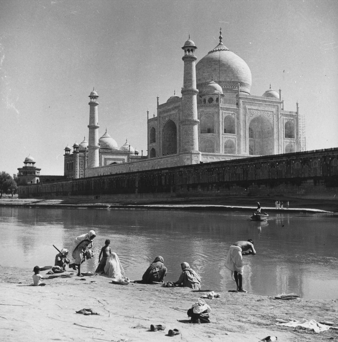 Bathing At Agra