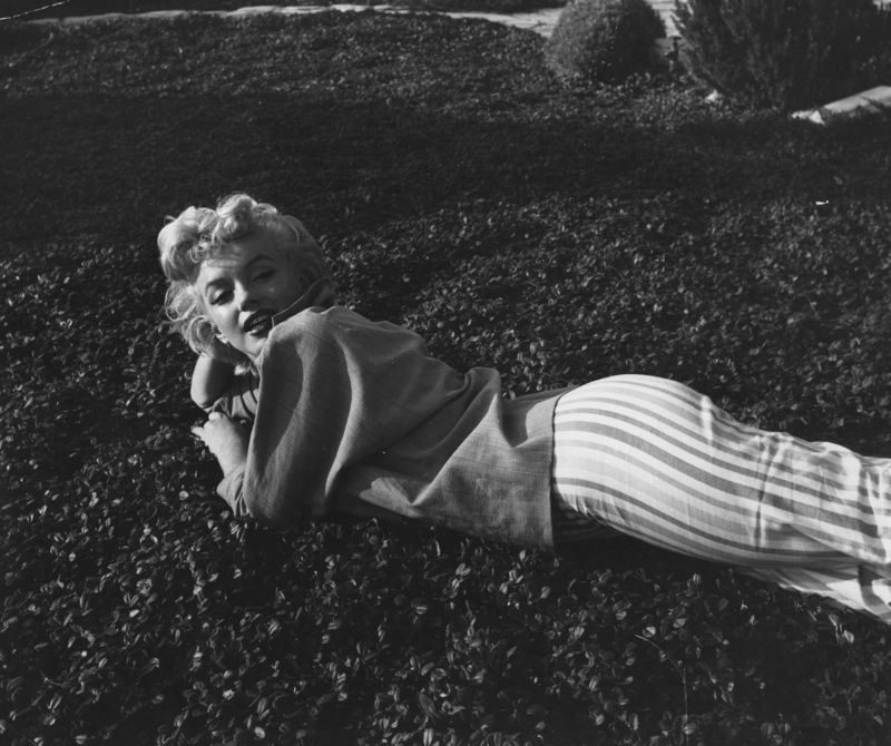 Marilyn Monroe Relaxing on the Grass