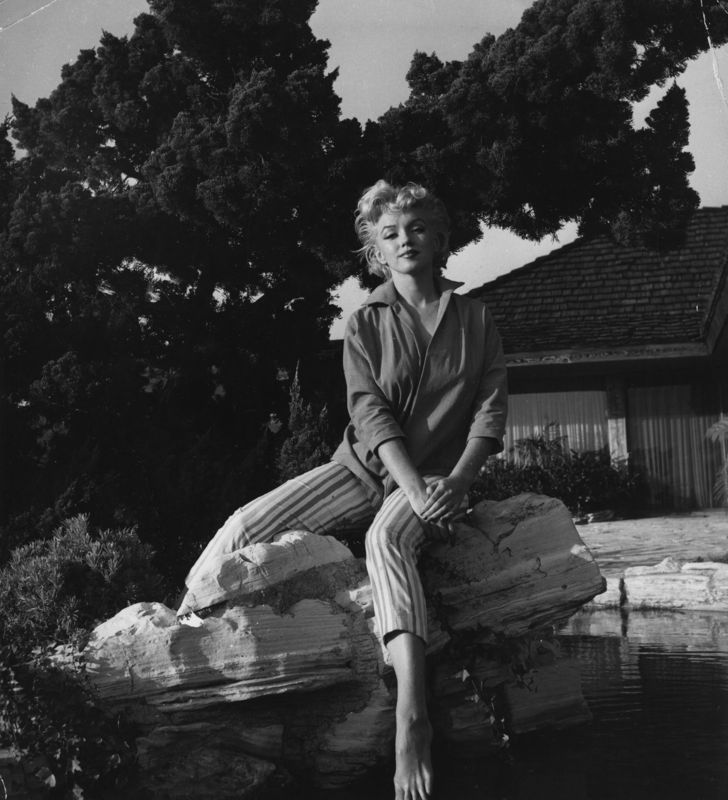 Marilyn Monroe Wearing Striped Capri Pants