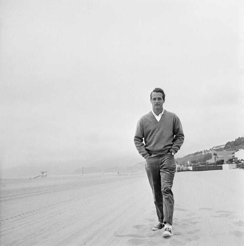 Paul Newman On The Baech