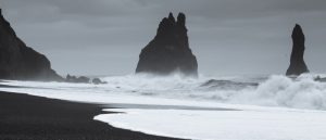 Basalt Sea Stacks Panorama