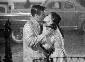 George Peppard and Audrey Hepburn