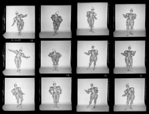David Bowie Scary Monsters Clown Contact Sheet